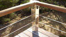 custom made stainless steel railings